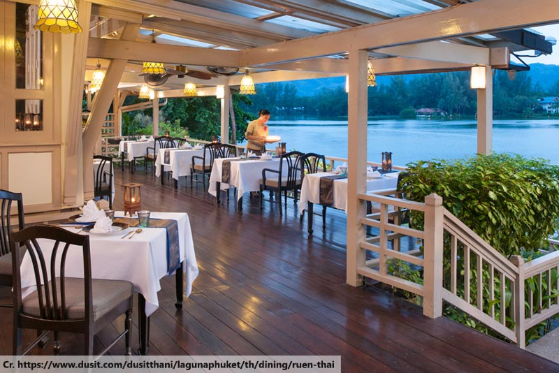 dining at ruenthai, Dusit Phuket