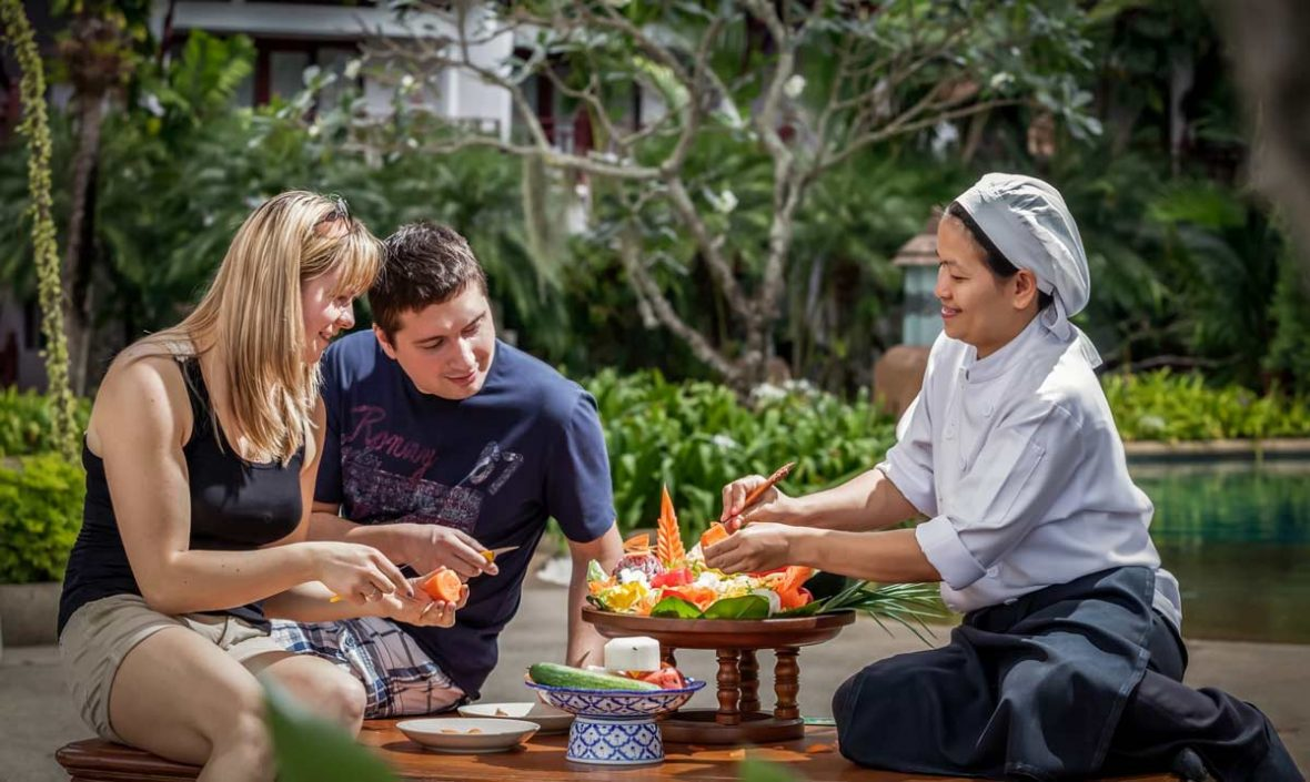 Phuket Thavorn Beach Resort Cultural Activities Fruit Carving