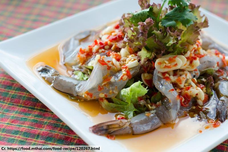 Goong Che Nam Pla, กุ้งแช่น้ำปลา