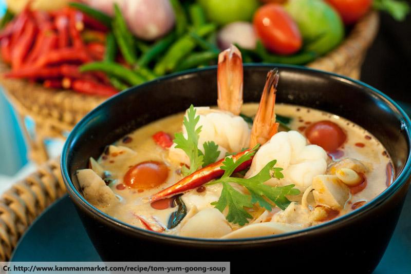 Tom yam kung, Thai Dish Cuisine