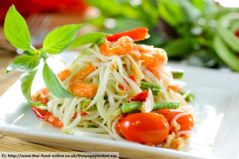 thai papaya salad, Som Tam