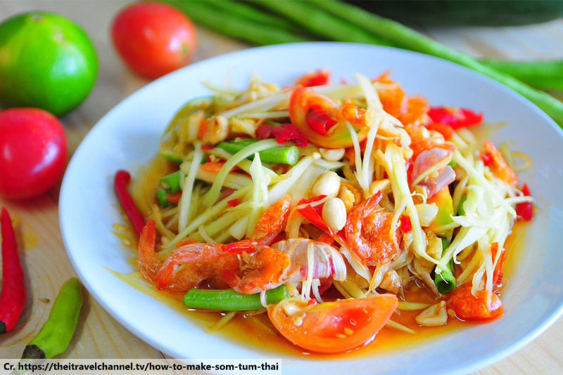 Somtum, Thai food, Thai Papaya Salad