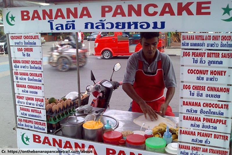 Roti, Banana Pancake Cart, Street Food Phuket