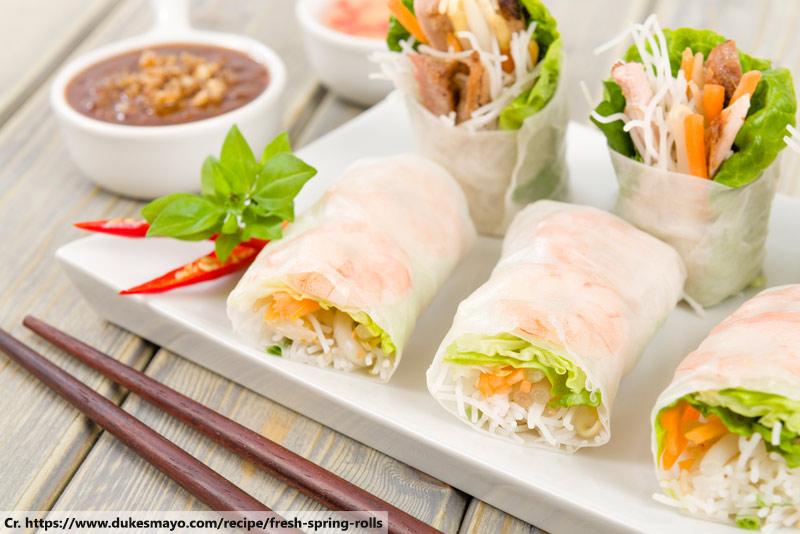 por pia sod, Spring rolls, Thai cuisine
