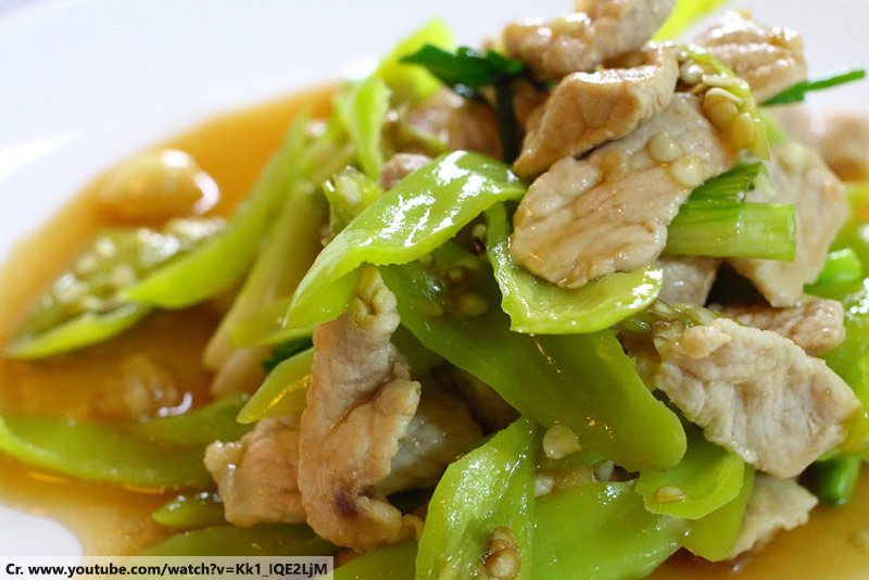 ผัดพริกหยวกหมู, Pad Prik, Thaifood